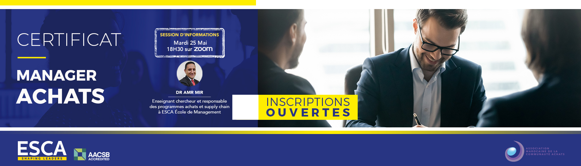 Session d'informations : Certificat Manager Achats